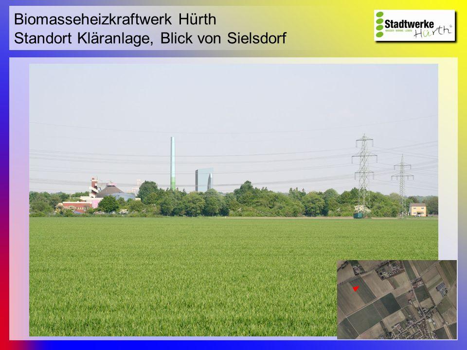 Biomasseheizkraftwerk Hürth Standort Kläranlage, Blick von Sielsdorf