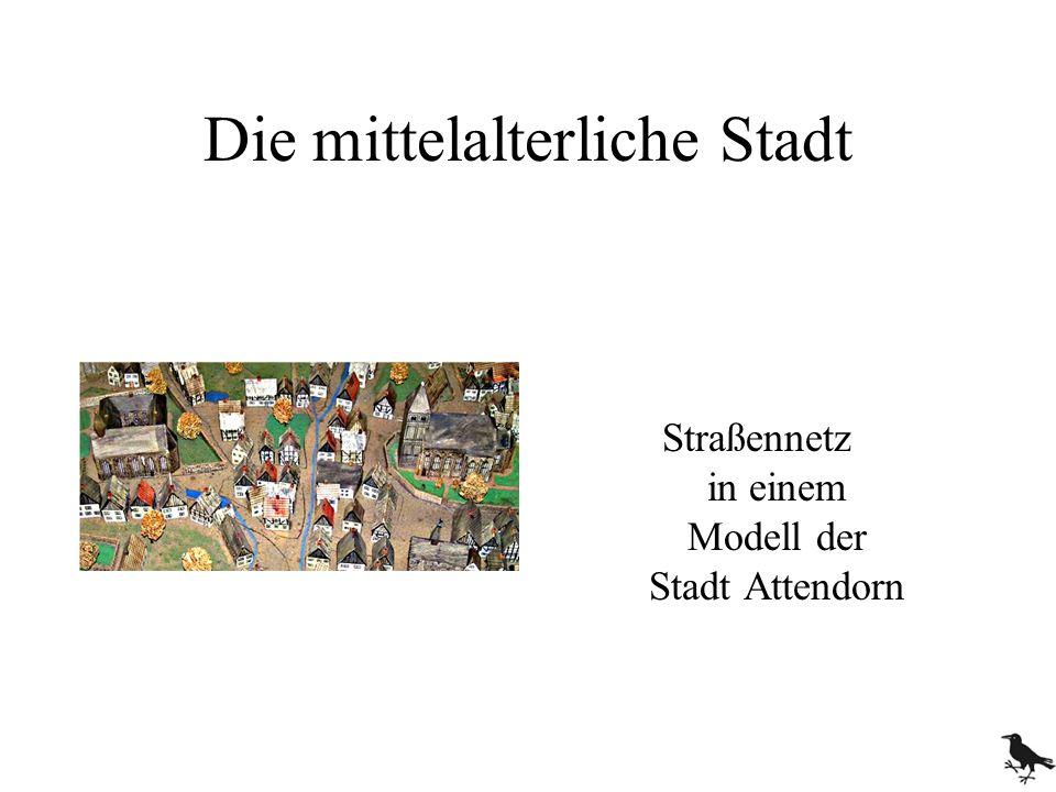 Die mittelalterliche Stadt Straßennetz in einem Modell der Stadt Attendorn