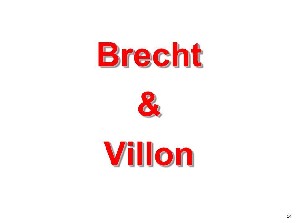 24 Brecht & Villon