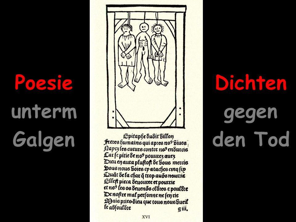 8 Dichten gegen den Tod Poesie unterm Galgen Dichten gegen den Tod