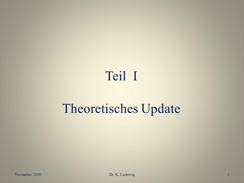 Teil I Theoretisches Update November 20095Dr. K. Ludewig