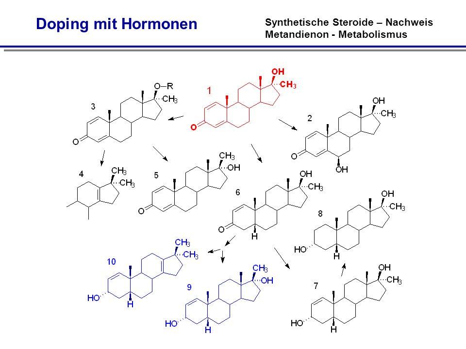 Synthetische Steroide – Nachweis Metandienon - Metabolismus Doping mit Hormonen