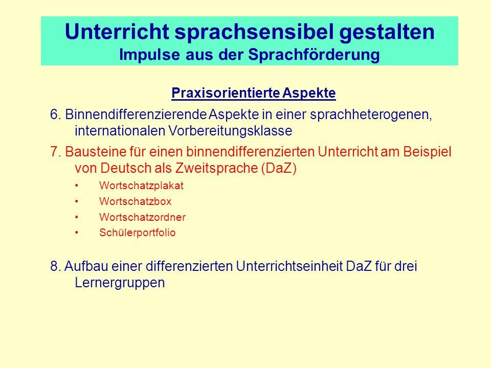 Reproduktion - ÜbungsmaterialienBaustein 1: Die Wortschatzplakate © Rena Thormann l