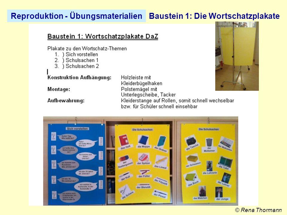 Reproduktion - ÜbungsmaterialienBaustein 2: Die Wortschatzboxen © Rena Thormann
