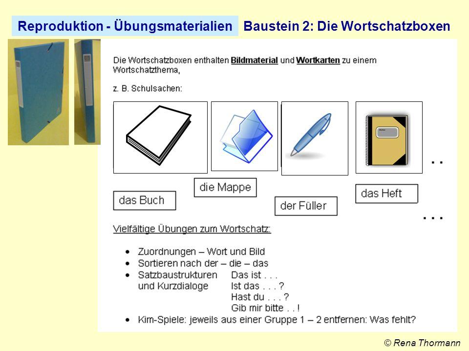 Reproduktion - ÜbungsmaterialienBaustein 3: Die Wortschatz-Ordner © Rena Thormann