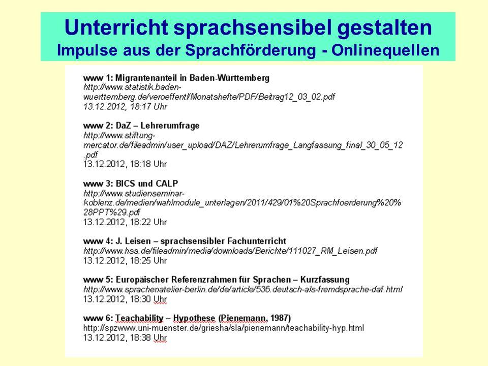 Unterricht sprachsensibel gestalten Impulse aus der Sprachförderung Vielen Dank für Ihre Aufmerksamkeit.