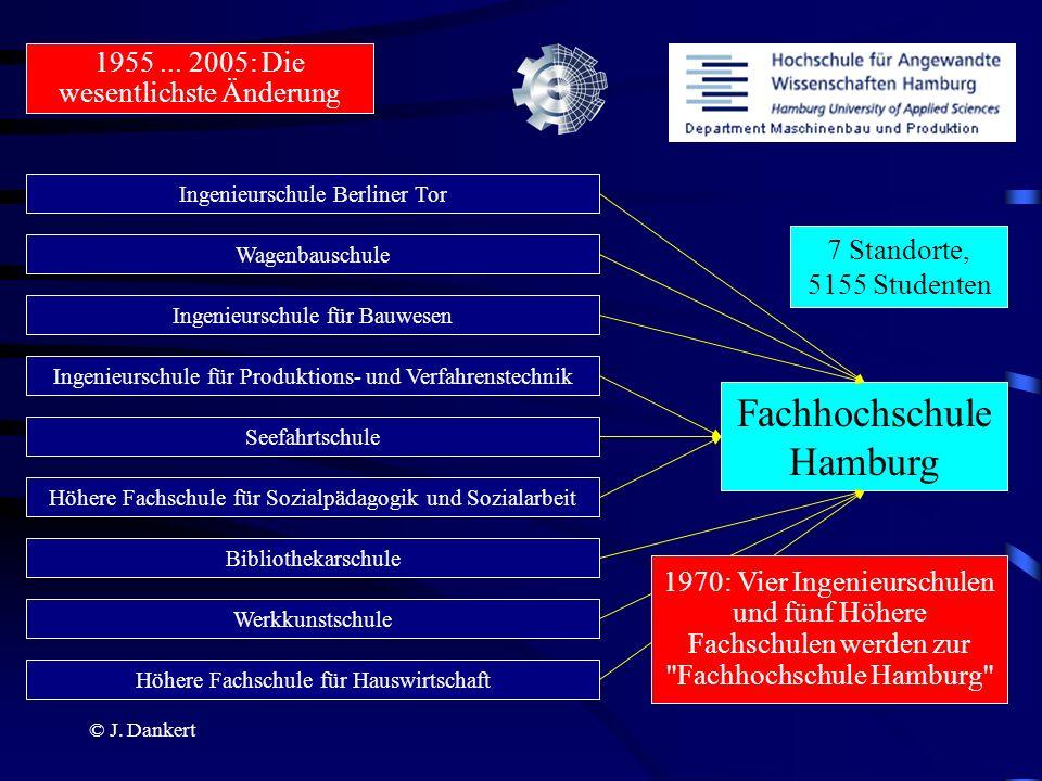 © J. Dankert 1955... 2005: Die wesentlichste Änderung Ingenieurschule Berliner Tor Wagenbauschule Ingenieurschule für Bauwesen Ingenieurschule für Pro