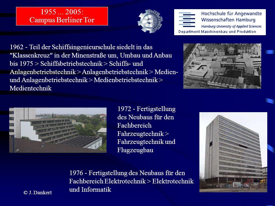 © J. Dankert 1962 - Teil der Schiffsingenieurschule siedelt in das