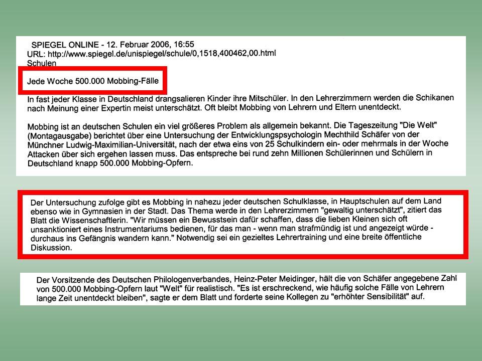 Ursachen von Gewalt Mobbing an der Schule Möglichkeiten der Prävention Eine unsichtbare Form von Gewalt Hermann Dengel Erster Kriminalhauptkommissar P