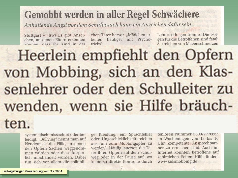 Ludwigsburger Kreiszeitung vom 9.2.2004