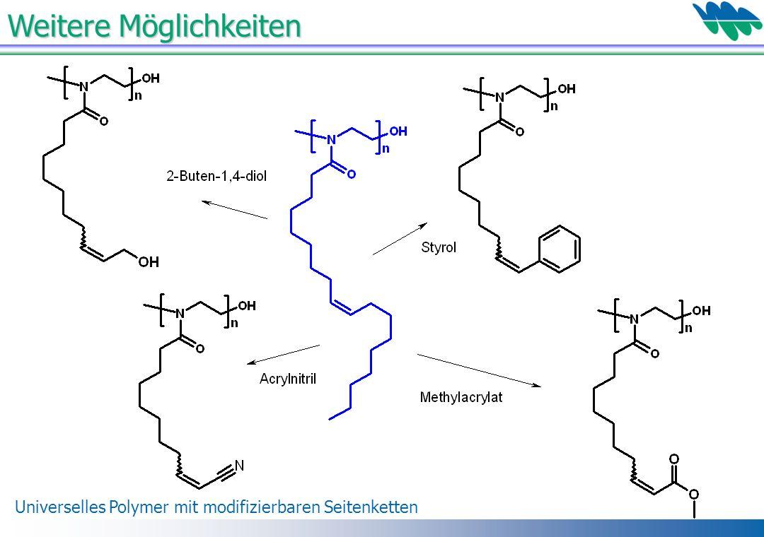 Weitere Möglichkeiten Universelles Polymer mit modifizierbaren Seitenketten