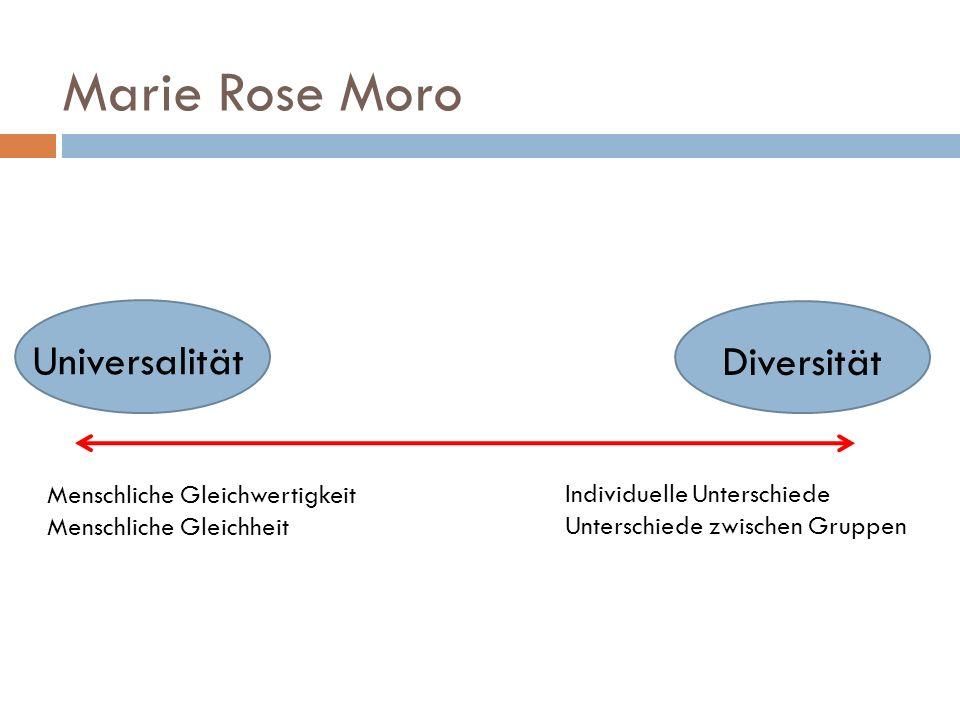 Marie Rose Moro Universalität Diversität Menschliche Gleichwertigkeit Menschliche Gleichheit Individuelle Unterschiede Unterschiede zwischen Gruppen