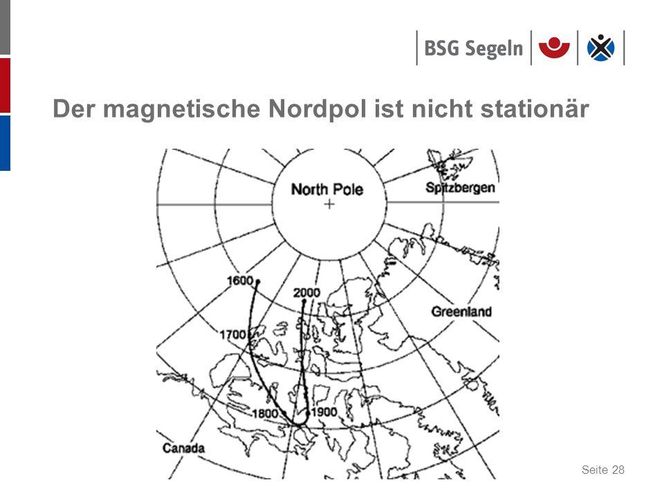 Seite 28 Der magnetische Nordpol ist nicht stationär