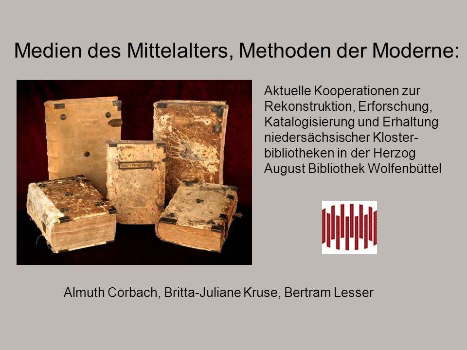 Buchkultur und Bildungsstand der Augustinerchorfrauen in den Stiften Steterburg, Heiningen und Dorstadt PD Dr.