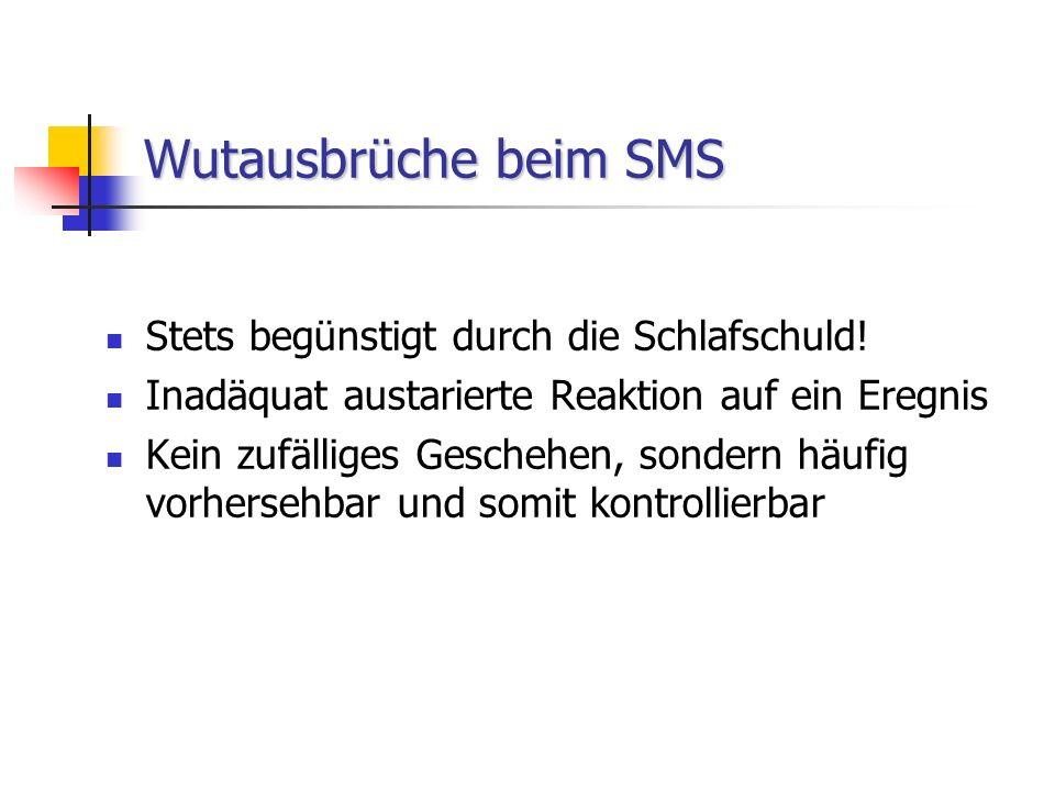 WIE SICH EIN SMS-GEWITTER ZUSAMMENBRAUT WUTANFÄLLE (-) VERHALTEN MELATONIN AM TAGE SCHLAFSCHULD ERWARTUNGEN IN SCHULE UND FAMILIE