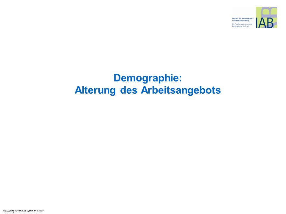 Ppt/Vorträge/Frankfurt Ältere 11.5.2007 Demographie: Alterung des Arbeitsangebots