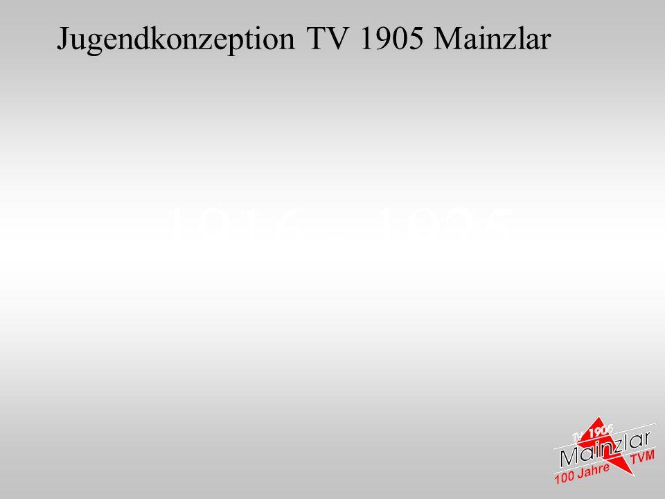 1916 - 1925 Jugendkonzeption TV 1905 Mainzlar