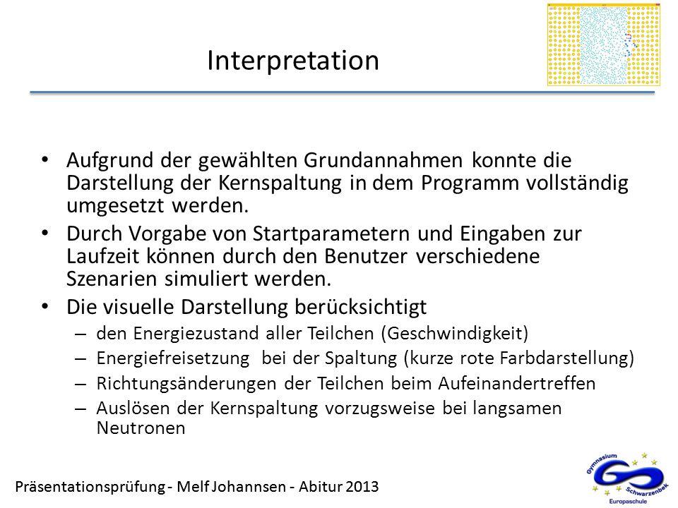 Präsentationsprüfung - Melf Johannsen - Abitur 2013 Interpretation Präsentationsprüfung - Melf Johannsen - Abitur 2013 Aufgrund der gewählten Grundann