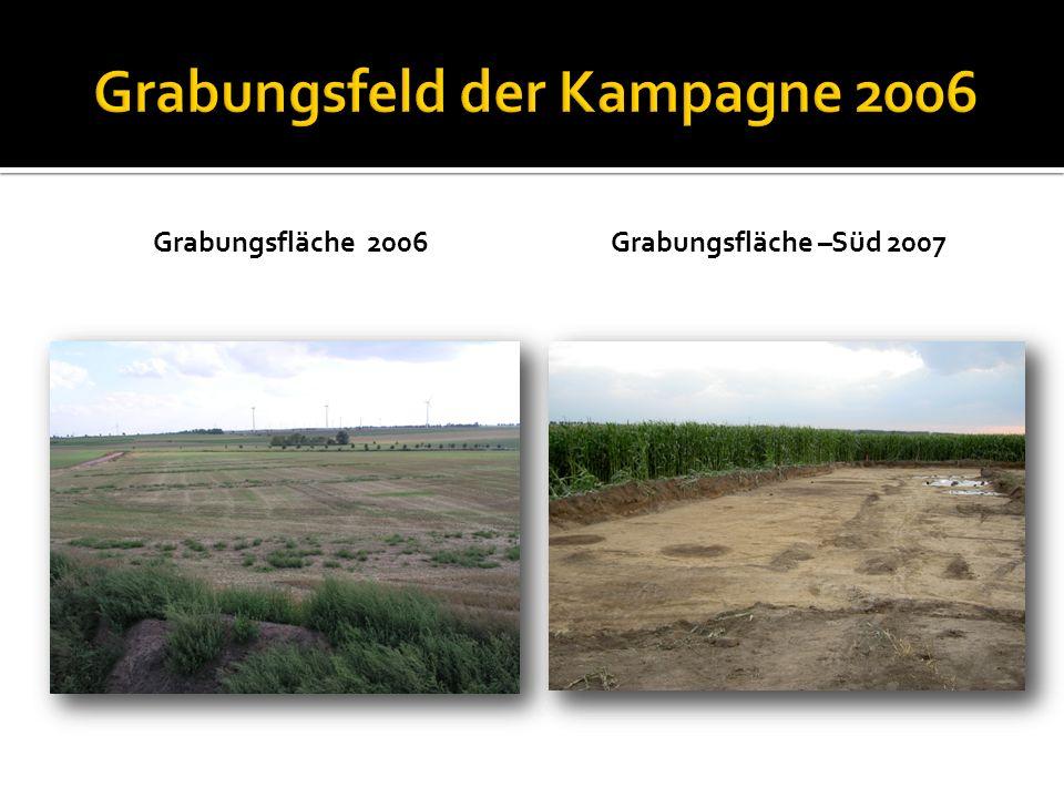 Grabungsfläche 2006Grabungsfläche –Süd 2007