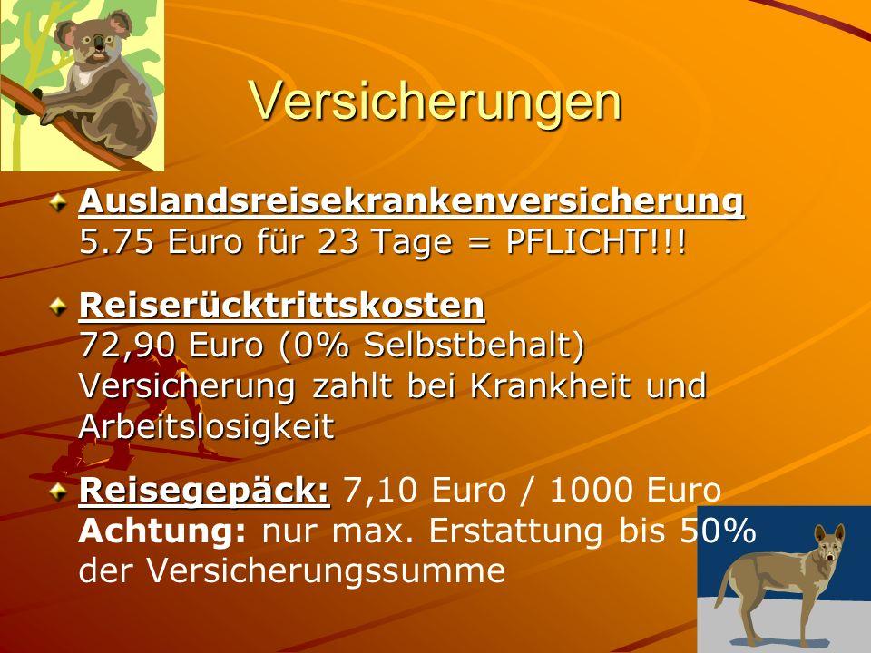 Versicherungen Auslandsreisekrankenversicherung 5.75 Euro für 23 Tage = PFLICHT!!.