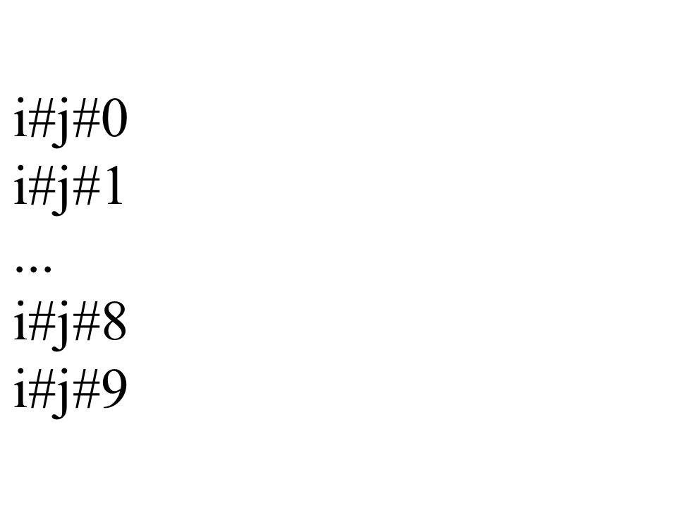 Beispiel: ausgabe_zeile_5#7 5#7#0 5#7#1 5#7#2... 5#7#8 5#7#9