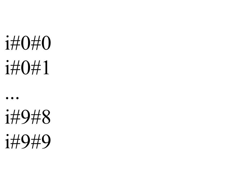 Beispiel: ausgabe_zeile_3 3#0#0 3#0#1 3#0#2... 3#9#8 3#9#9