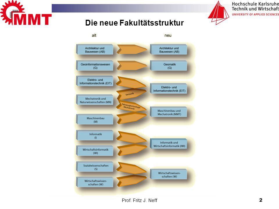 Prof. Fritz J. Neff2 Die neue Fakultätsstruktur