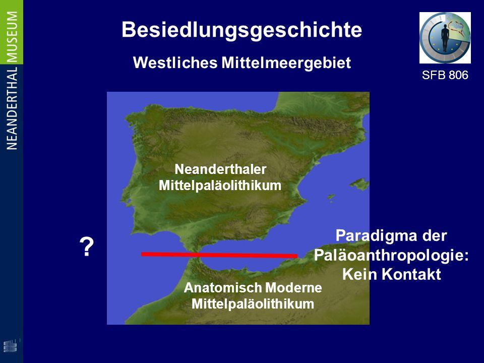 Besiedlungsgeschichte Westliches Mittelmeergebiet Neanderthaler Mittelpaläolithikum Anatomisch Moderne Mittelpaläolithikum SFB 806 Paradigma der Paläo