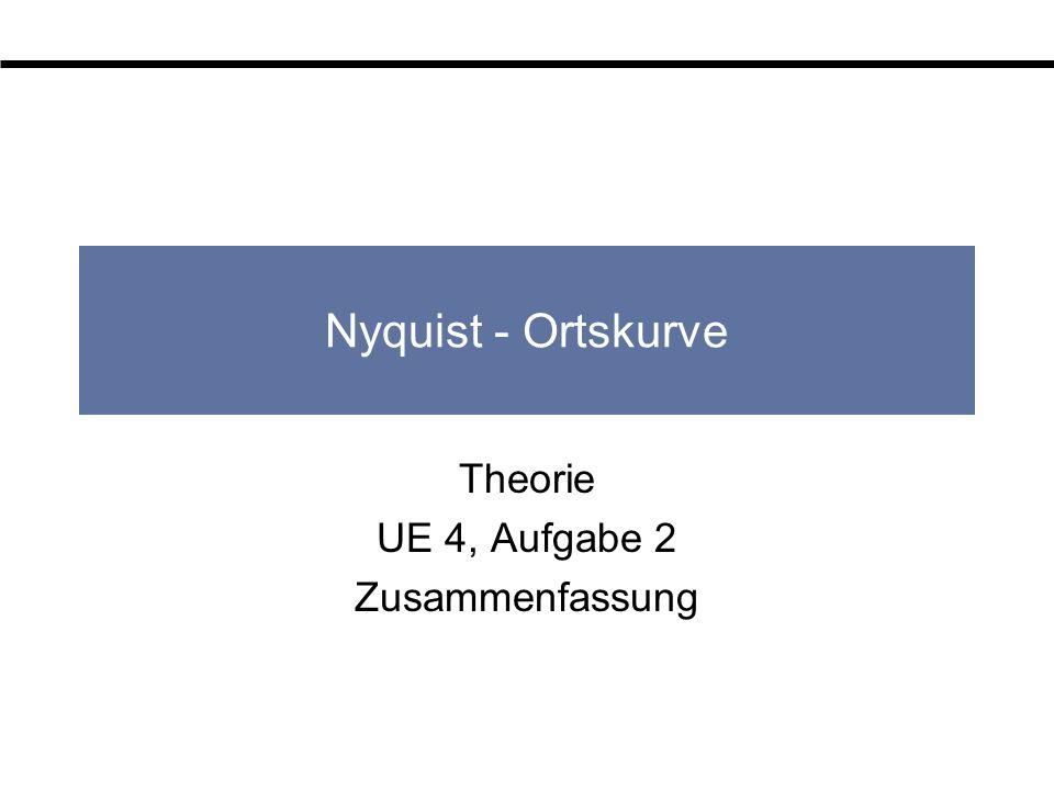 Nyquist - Ortskurve Theorie UE 4, Aufgabe 2 Zusammenfassung