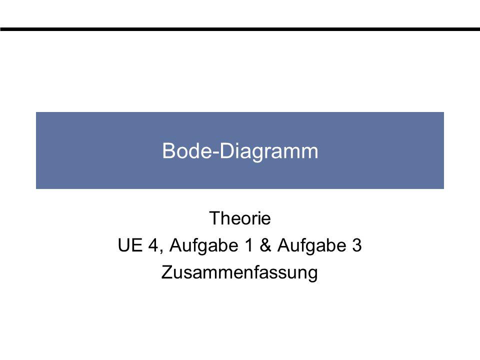 Bode-Diagramm Theorie UE 4, Aufgabe 1 & Aufgabe 3 Zusammenfassung