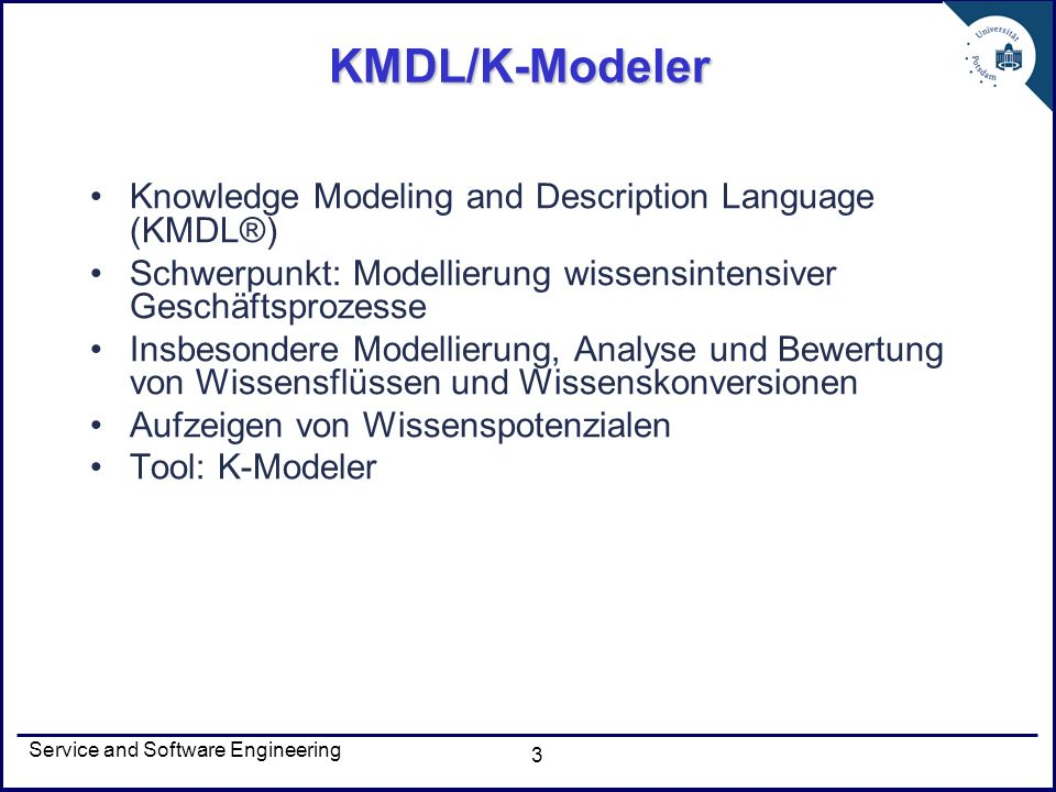 Service and Software Engineering 14 Prozessmodell 2/3