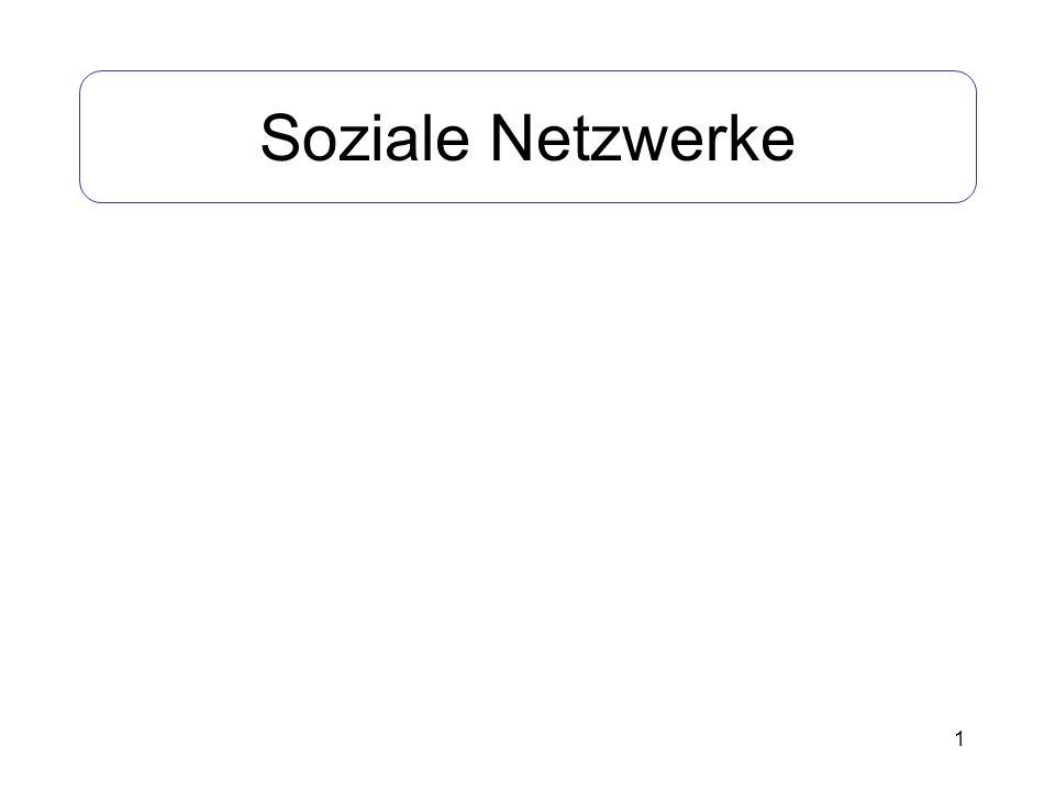 1 Soziale Netzwerke