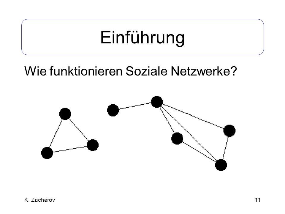 11 Einführung Wie funktionieren Soziale Netzwerke? K. Zacharov