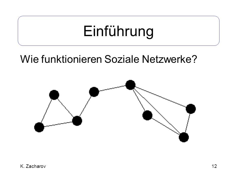 12 Einführung Wie funktionieren Soziale Netzwerke? K. Zacharov