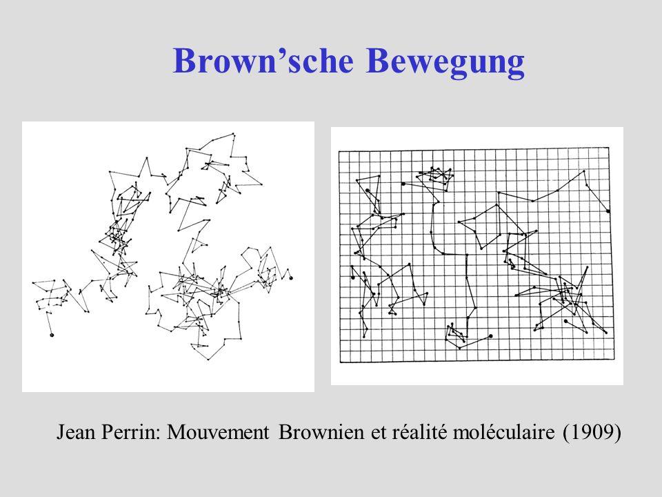 Brownsche Bewegung Jean Perrin: Mouvement Brownien et réalité moléculaire (1909)