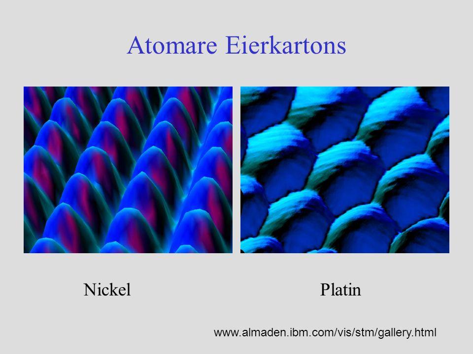 Atomare Eierkartons NickelPlatin www.almaden.ibm.com/vis/stm/gallery.html