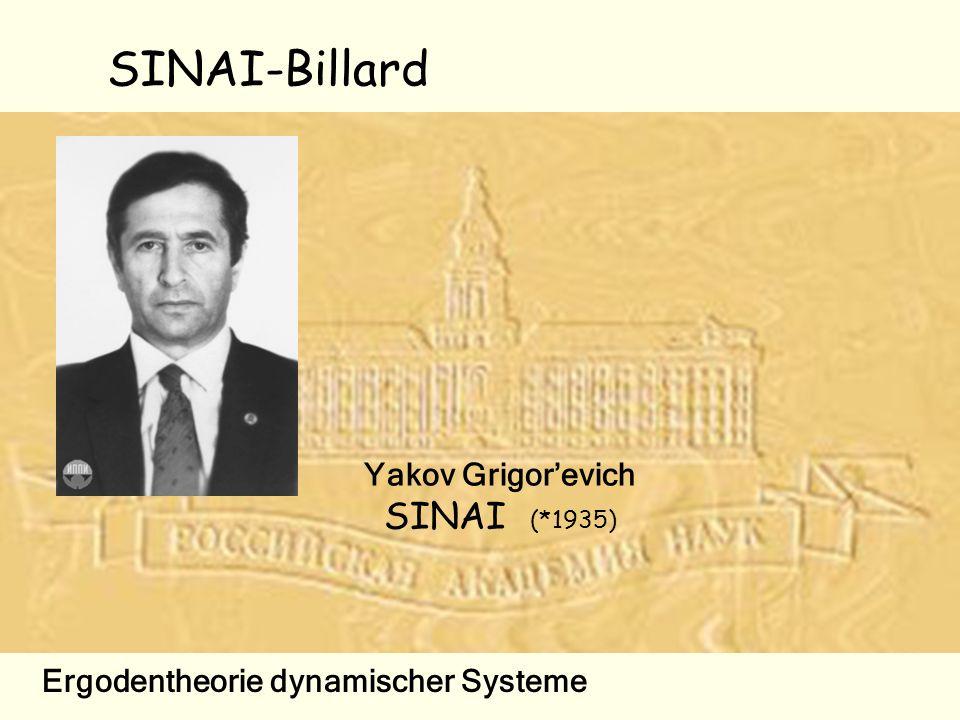 SINAI-Billard Yakov Grigorevich SINAI (*1935) Ergodentheorie dynamischer Systeme