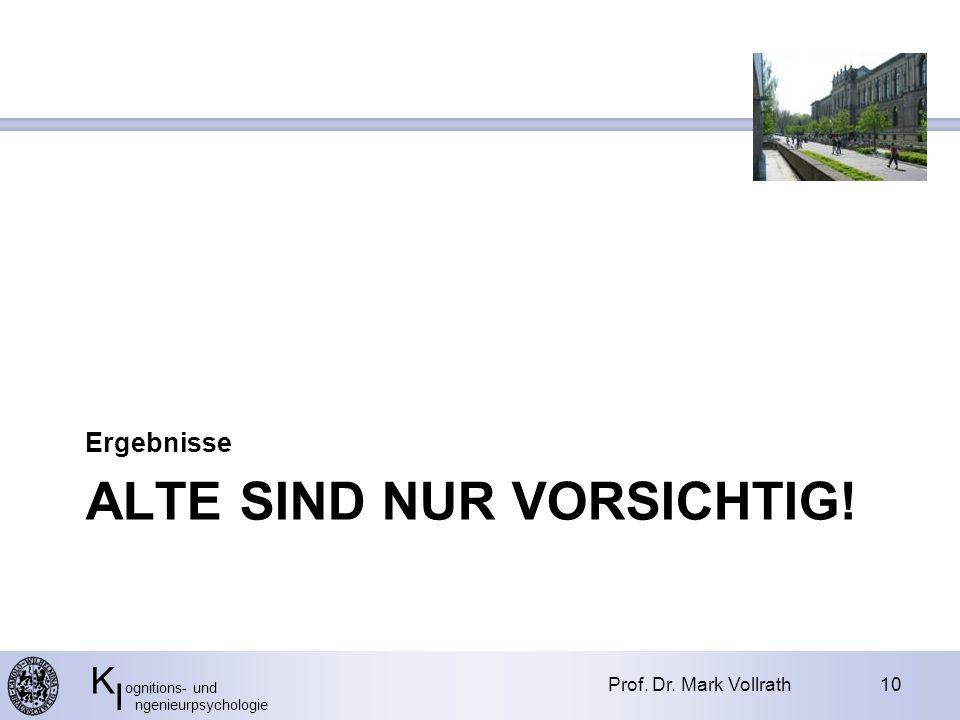 K ognitions- und I ngenieurpsychologie ALTE SIND NUR VORSICHTIG.