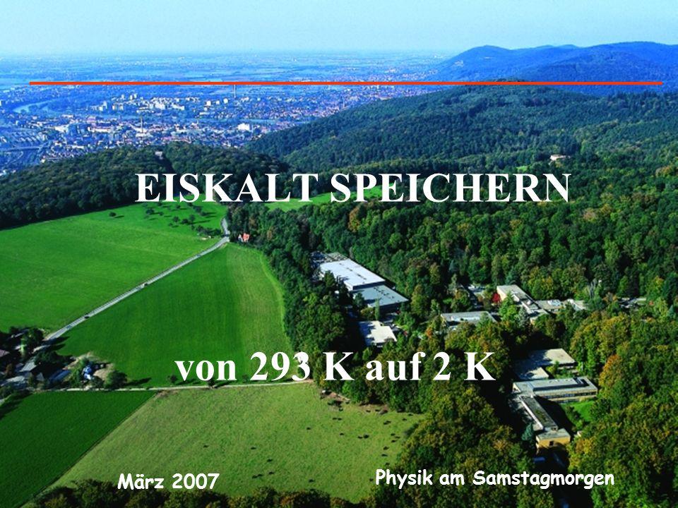 Physik am Samstagmorgen März 2007 EISKALT SPEICHERN von 293 K auf 2 K