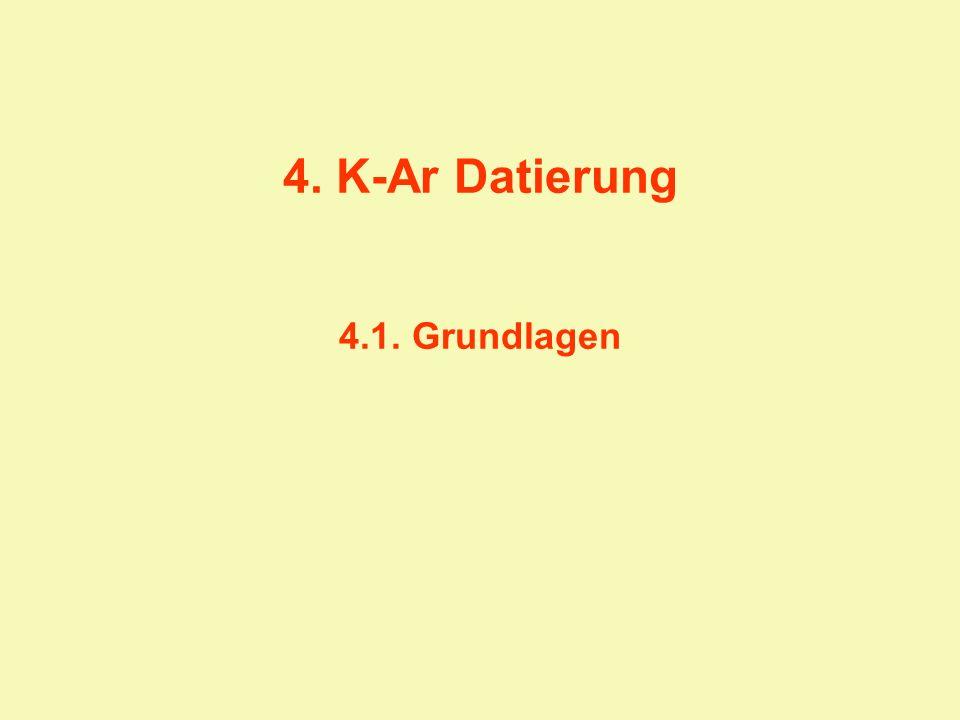 4. K-Ar Datierung 4.1. Grundlagen