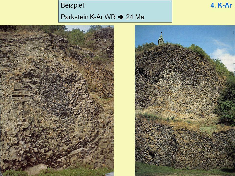 Beispiel: Parkstein K-Ar WR 24 Ma 4. K-Ar