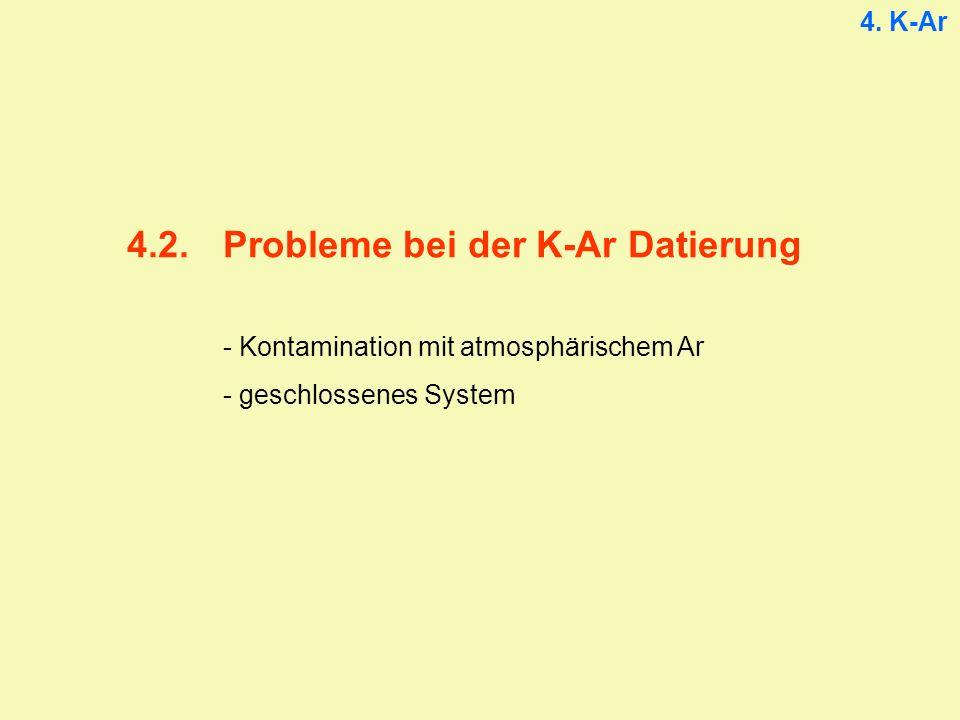 4. K-Ar 4.2.Probleme bei der K-Ar Datierung - Kontamination mit atmosphärischem Ar - geschlossenes System