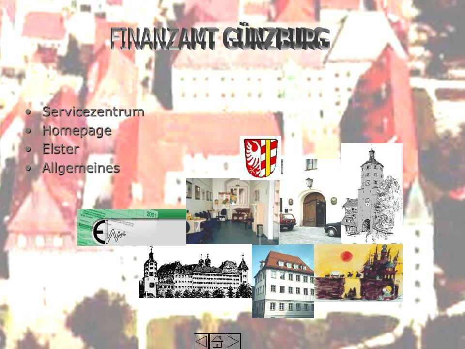 ServicezentrumServicezentrum HomepageHomepage ElsterElster AllgemeinesAllgemeines