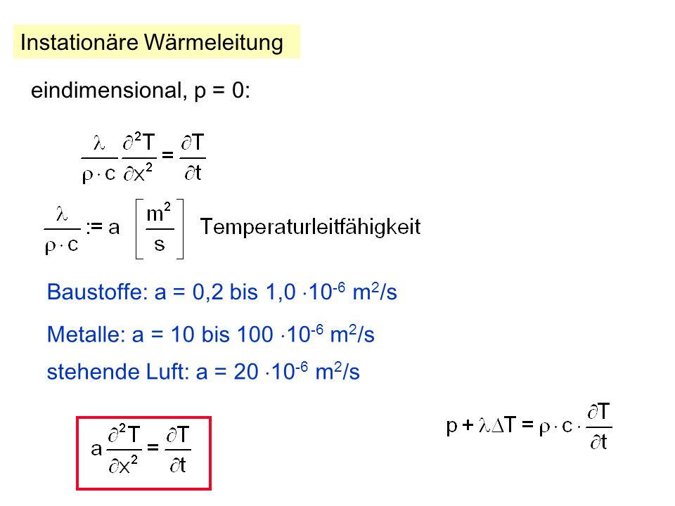 + Wärmequelle Wärmequelle p = P/V [W/m 3 ] Erwärmung von dV: Summe: