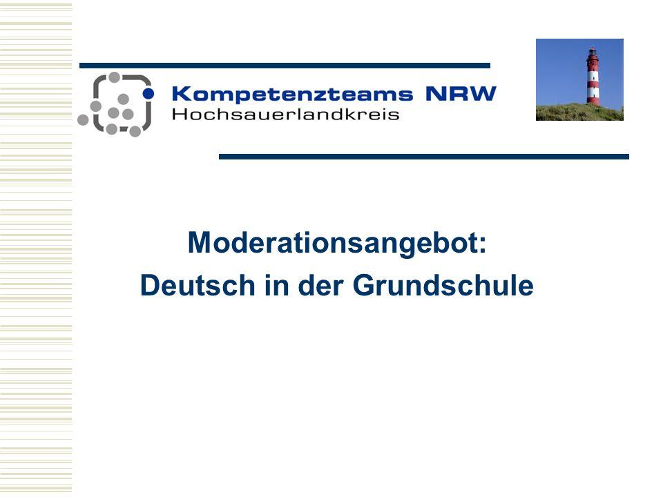 Moderationsangebot: Deutsch in der Grundschule