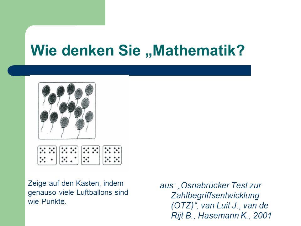 aus: Osnabrücker Test zur Zahlbegriffsentwicklung (OTZ), van Luit J., van de Rijt B., Hasemann K., 2001 Zeige auf den Kasten, indem genauso viele Luft