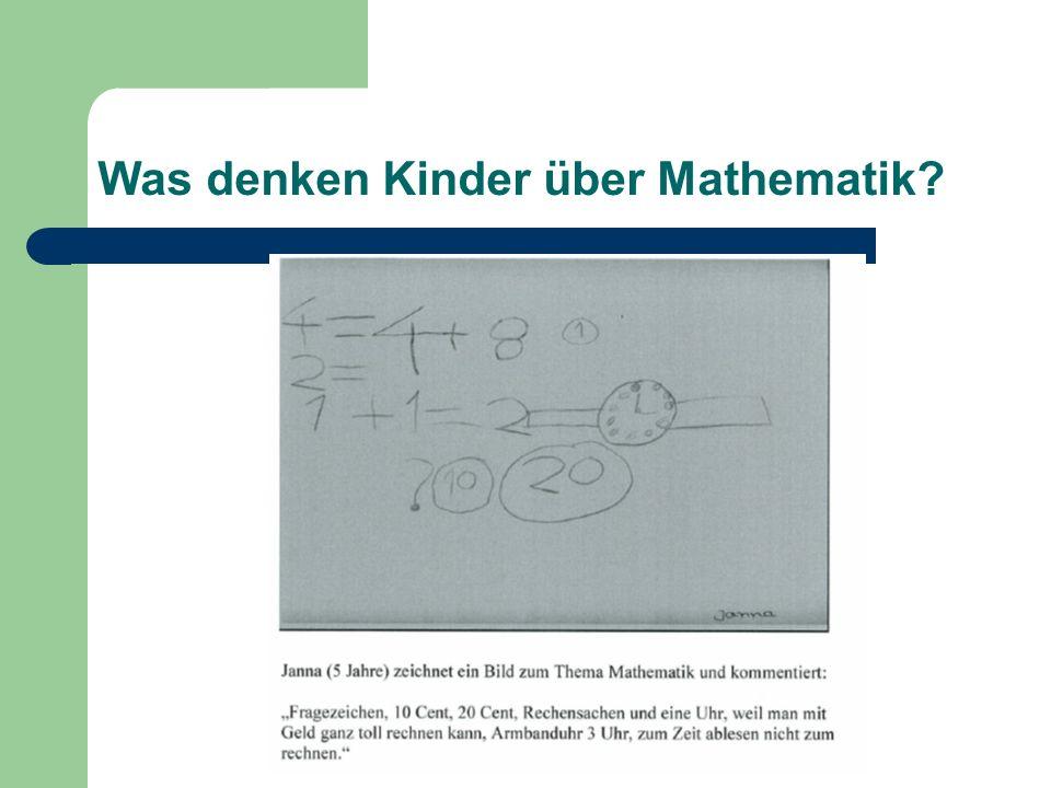 Was denken Kinder über Mathematik?