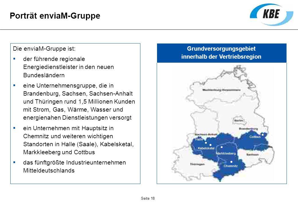 Die enviaM-Gruppe ist: der führende regionale Energiedienstleister in den neuen Bundesländern eine Unternehmensgruppe, die in Brandenburg, Sachsen, Sa