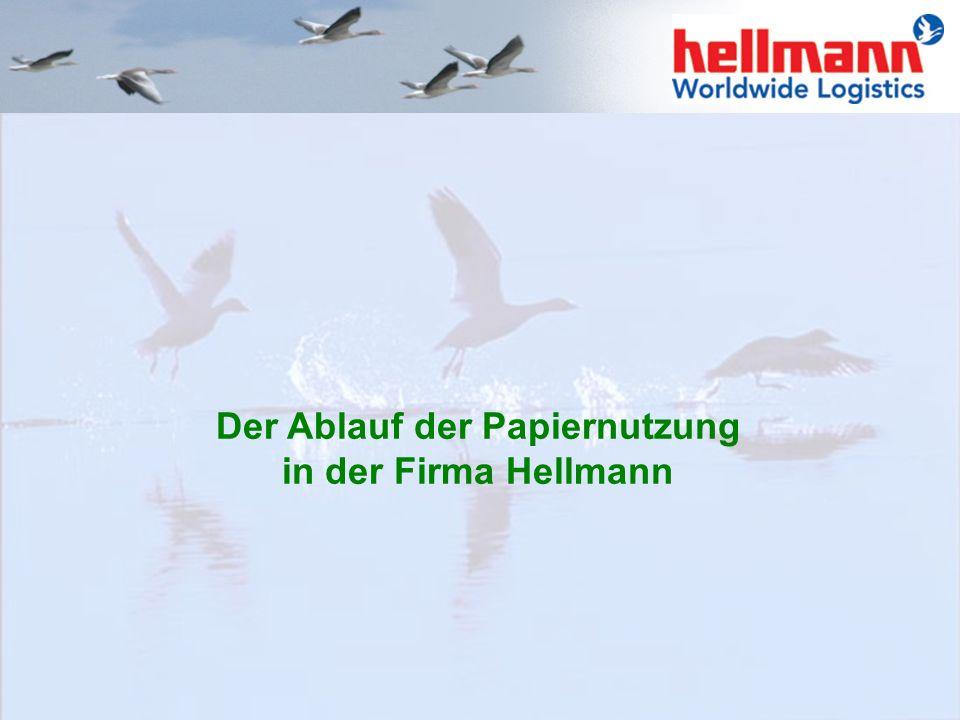 Der Ablauf der Papiernutzung in der Firma Hellmann
