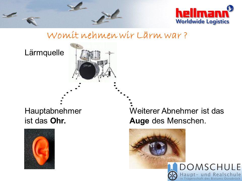 Was kann Lärm bei uns bewirkten Schäden wie: HörschädenTrommelfellreizungen Tinnitus Die mechanische Schallübertragung vom Außen- zum Innenohr ist ges